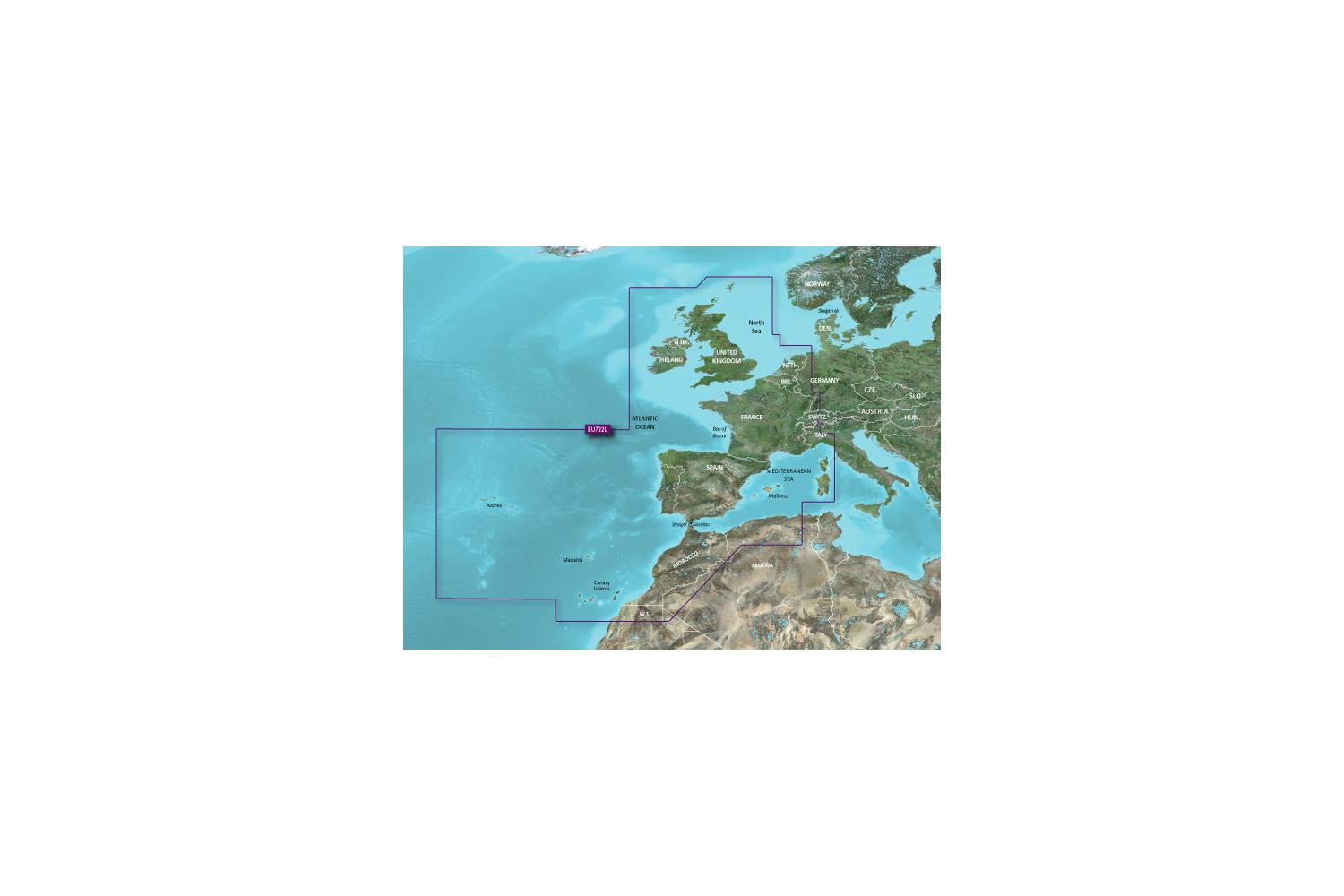 Garmin Bluechart VEU722L Europe Atlantic coast G3 Vision 2