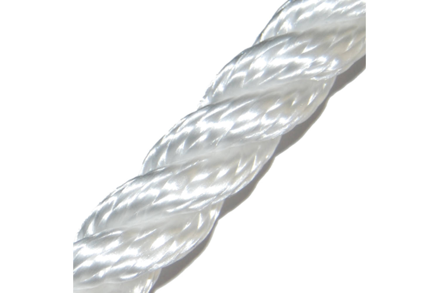 M-Ropes Polyester touw 3-strengs wit - 10mm