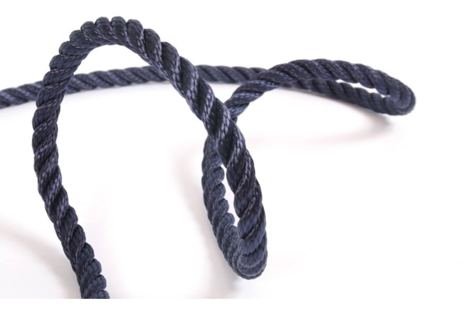 M-Ropes Polypropyleen PPM touw 3-strengs navy - 14mm