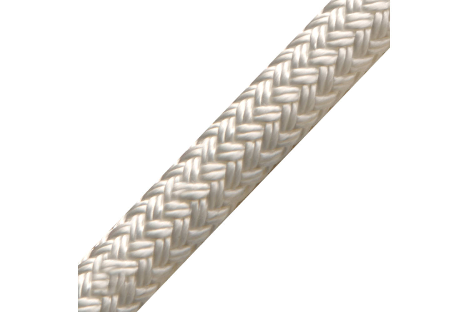English Braids Polyester lijn Braid on Braid wit - 8mm