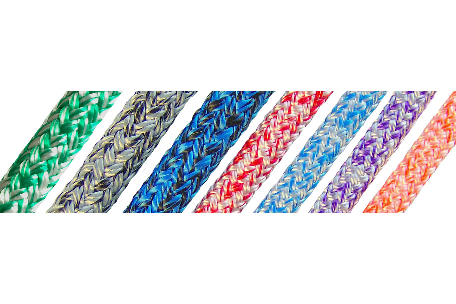 English Braids Dyneema lijn Cruising wit/blauw - 8mm