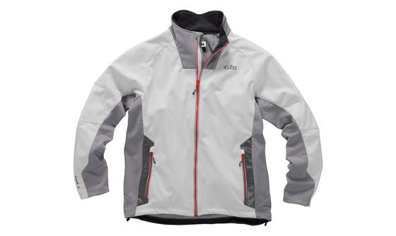 Gill heren Race Softshell jas zilver L  1